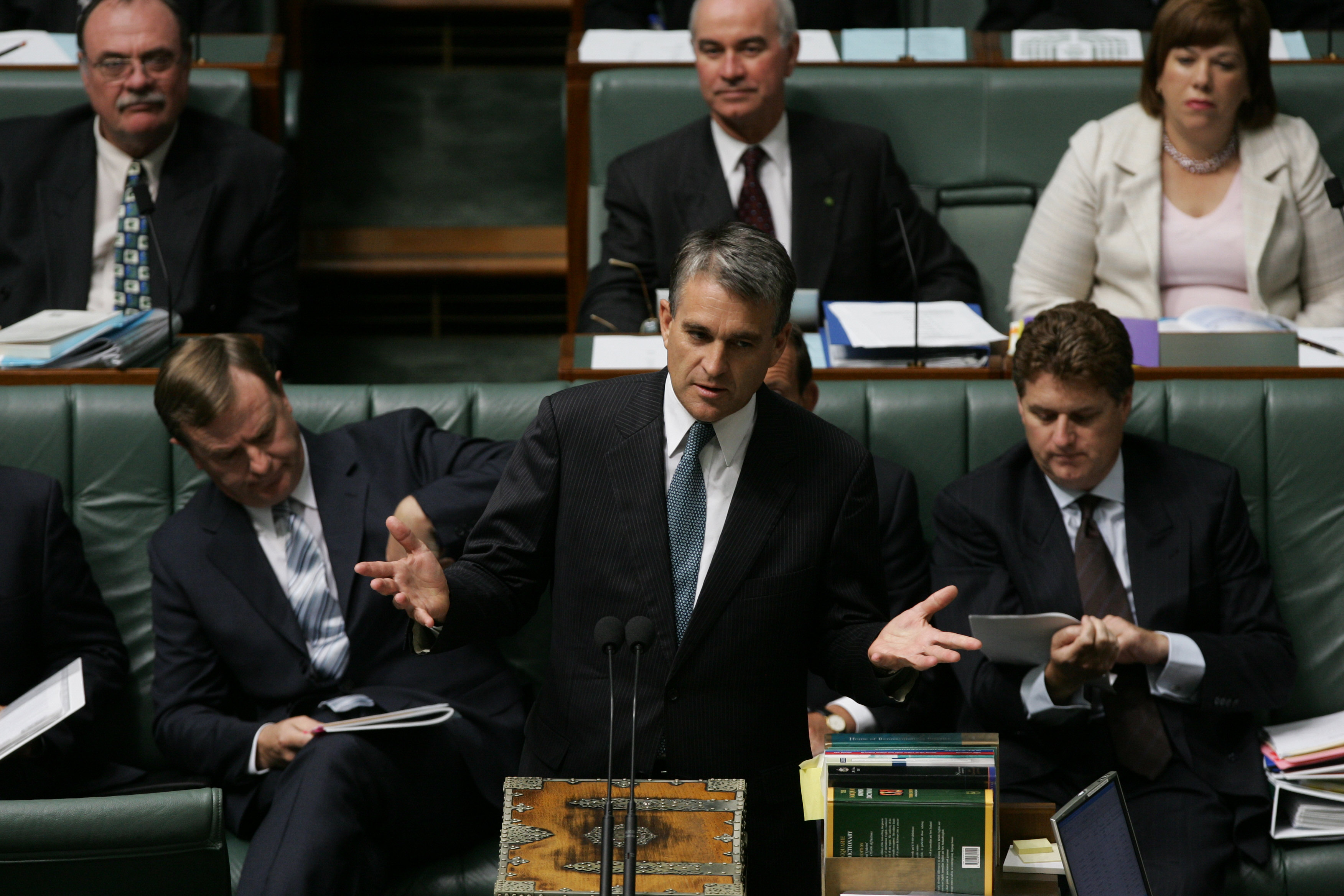 Acting Prime Minister John Anderson during Question Time in the House of Representatives in Federal Parliament on 29 November 2004.